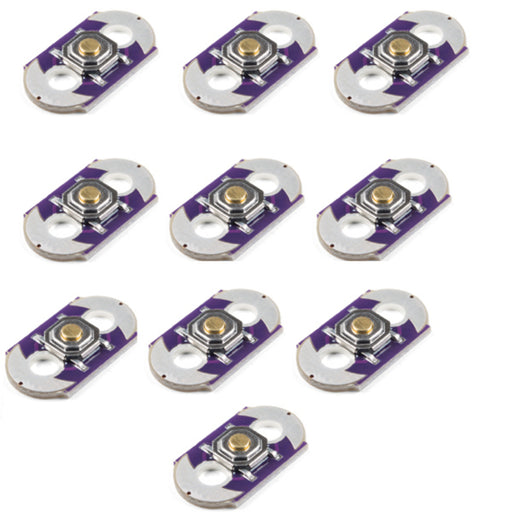 E-Textiles Momentary Push Button - 10 Pack