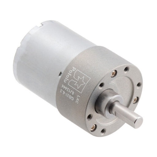 6.3:1 Metal Gearmotor 37Dx50L mm 12V (Helical Pinion)