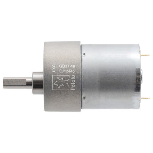 10:1 Metal Gearmotor 37Dx50L mm 12V (Helical Pinion)