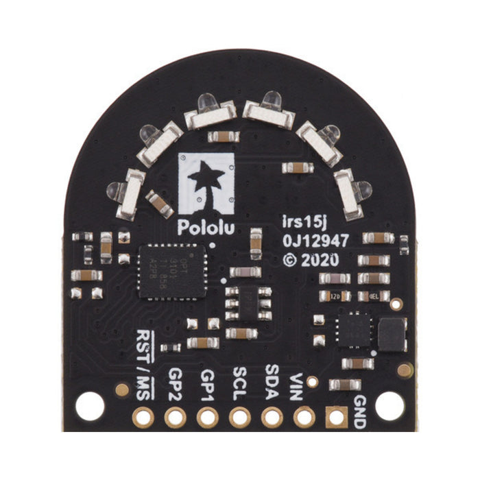 3-Channel Wide FOV Time-of-Flight Distance Sensor Using OPT3101 (No Headers)