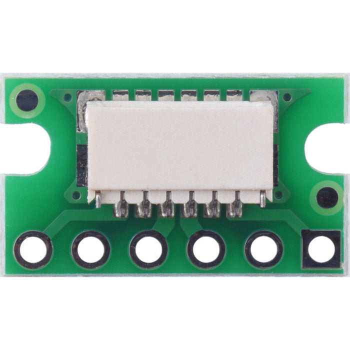Breakout for JST SH-Style Connector, 6-Pin Male Side-Entry (Individually Packaged)