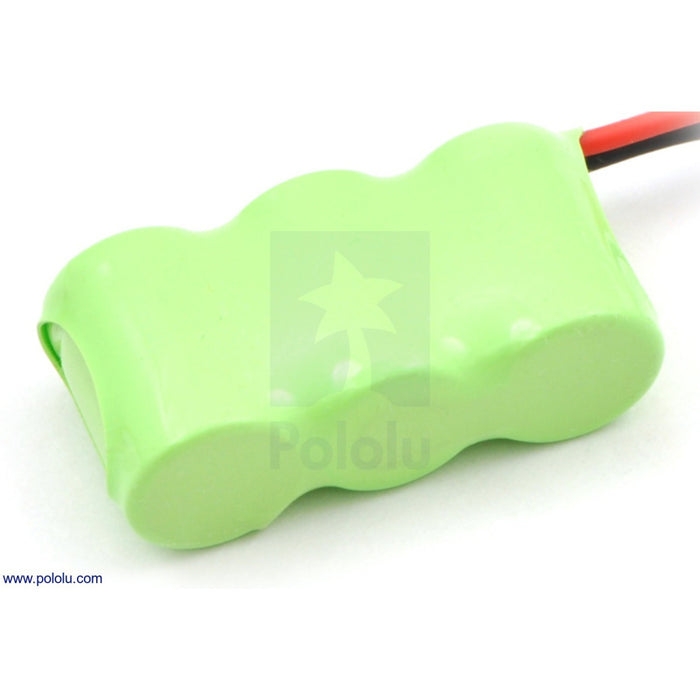 Rechargeable NiMH Battery Pack: 3.6 V, 150 mAh, 3x1 1/3-AAA Cells