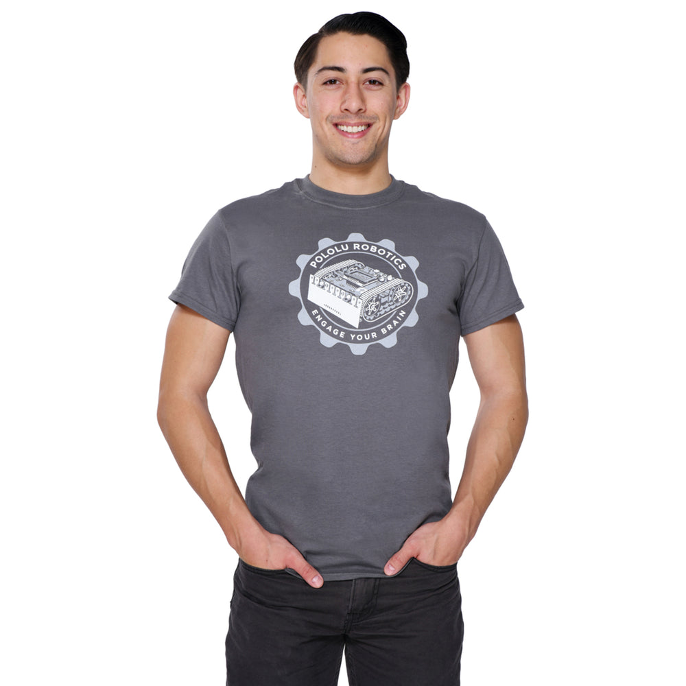 Pololu Zumo T-Shirt: Charcoal Gray, Adult M