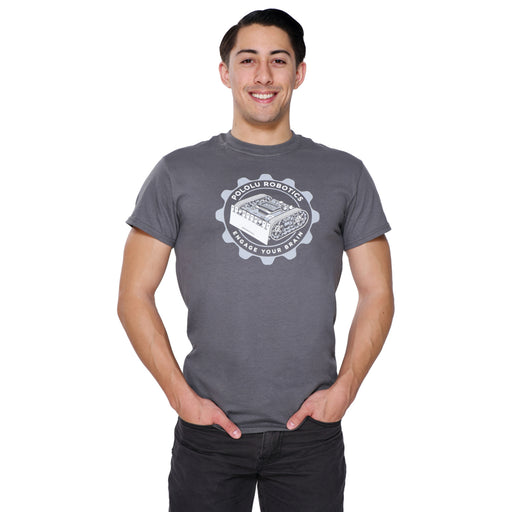 Pololu Zumo T-Shirt: Charcoal Gray, Adult L
