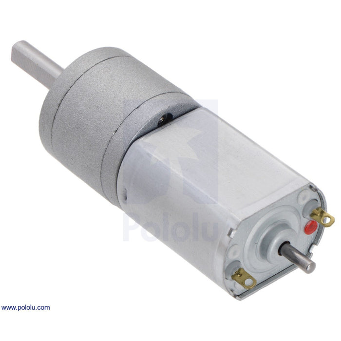 391:1 Metal Gearmotor 20Dx46L mm 12V CB with Extended Motor Shaft