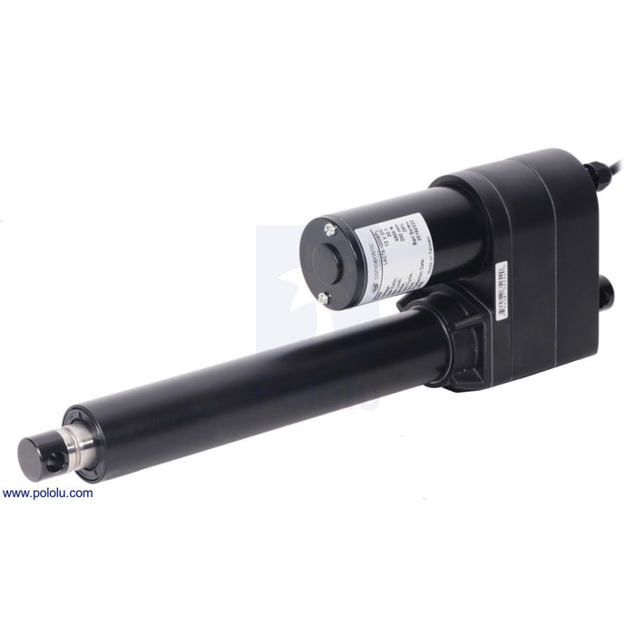 "Glideforce LACT8-500AL Industrial-Duty Linear Actuator with Acme Drive: 250kgf, 8"" Stroke, 0.66""/s, 12V"
