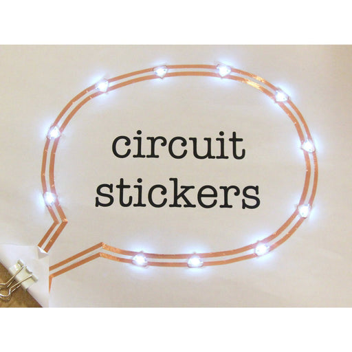 Circuit Stickers LED MegaPack (30 stickers) - White