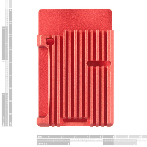 Aluminum Heatsink Case for Raspberry Pi 4 - Red