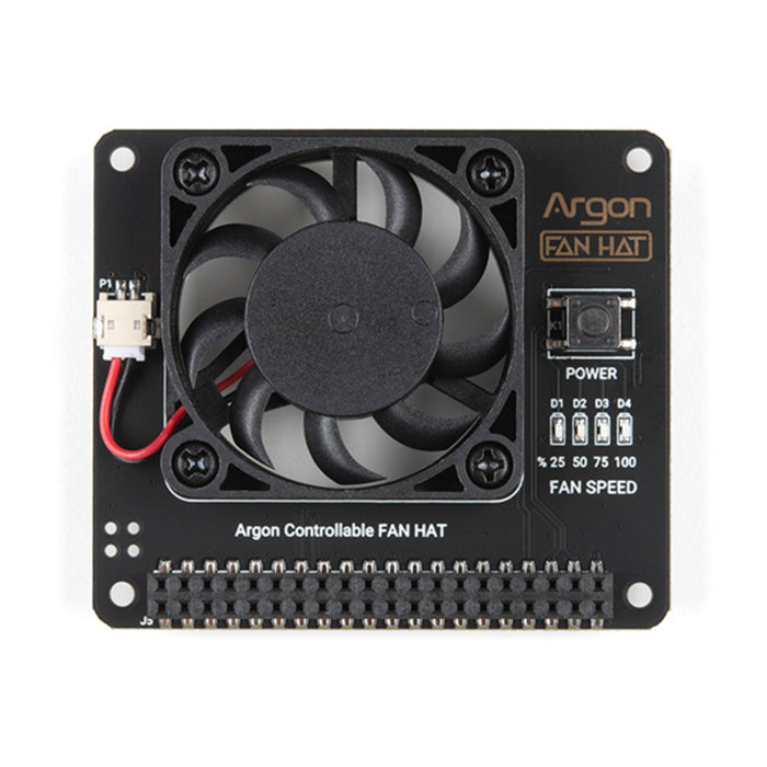 Argon40 Fan HAT for Raspberry Pi 4, 3B, and 3B+
