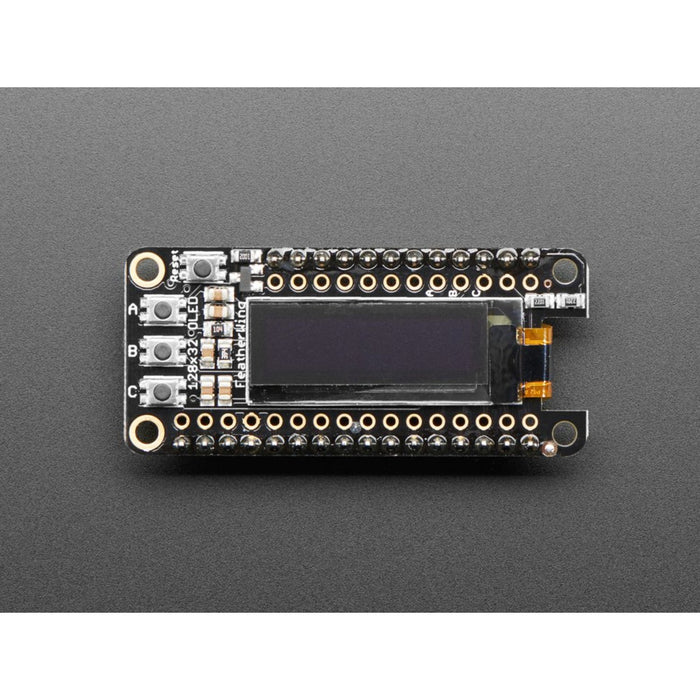 Assembled Adafruit FeatherWing OLED - 128x32 OLED Add-on For