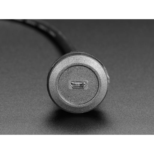 Micro B Round Panel Mount Extension Cable - 30cm