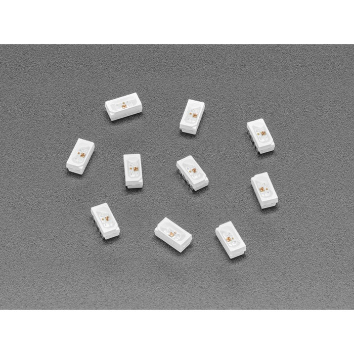 NeoPixel Side-Light RGB LED w/ Integrated Driver Chip - 10-pack - SK6812B 4020