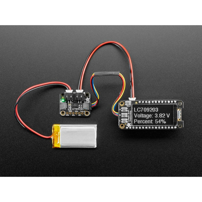 Adafruit LC709203F LiPoly / LiIon Fuel Gauge and Battery Monitor - STEMMA JST PH & QT / Qwiic