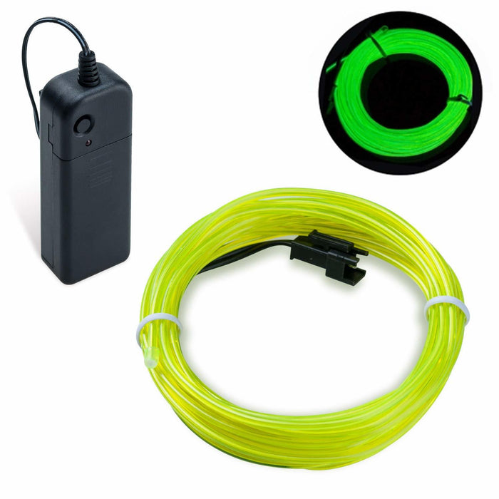 EL Wire - Fluorescent  Green 5m With Inverter