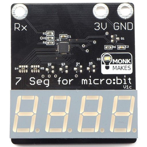7-segment for micro:bit by Monk Makes
