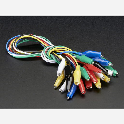 Small Alligator Clip Test Lead (set of 12)