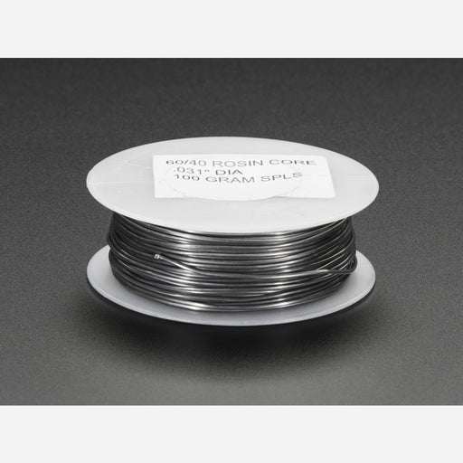 Mini Solder spool - 60/40 lead rosin-core solder 0.031 diameter [100g]