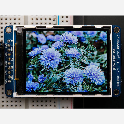 2.2 18-bit color TFT LCD display with microSD card breakout