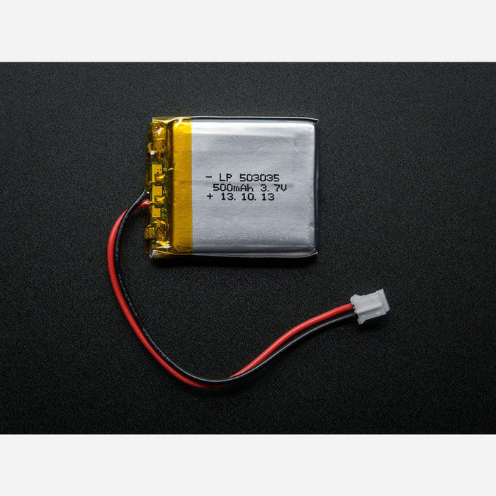 Lithium Ion Polymer Battery - 3.7v 500mAh