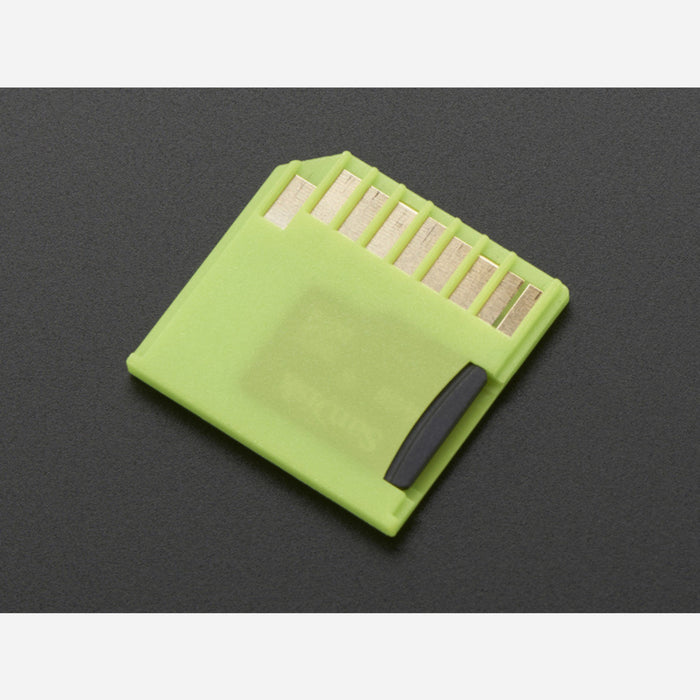 Green Shortening microSD adapter for Raspberry Pi & Macbooks