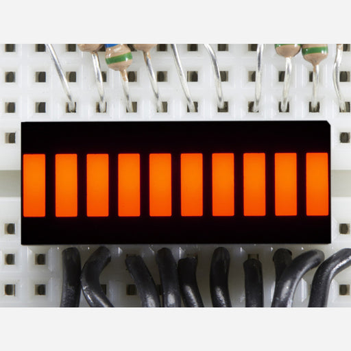 10 Segment Light Bar Graph LED Display - Amber [KWL-R1025UAB]