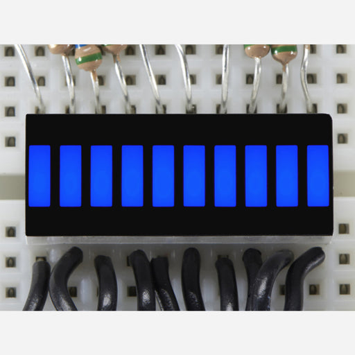 10 Segment Light Bar Graph LED Display - Blue [KWL-R1025BB]