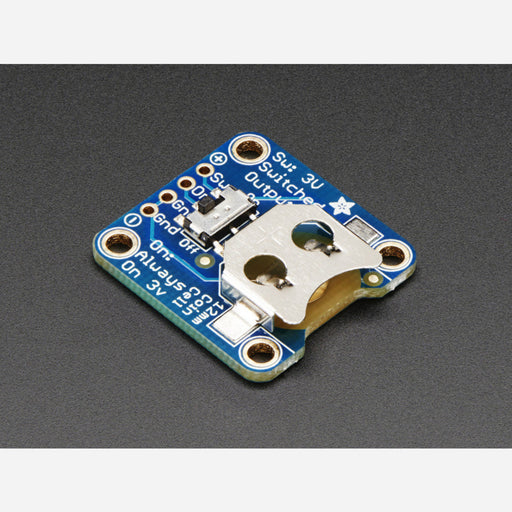 12mm Coin Cell Breakout w/ On-Off Switch