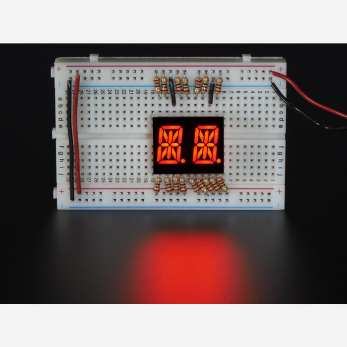 Dual Alphanumeric Display - Red 0.54 Digit Height - Pack of 2