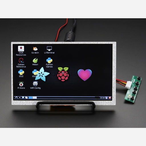 HDMI 4 Pi: 7 Display (no Touch) w/Mini Driver - 800x480 HDMI