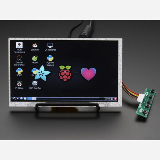 HDMI 4 Pi: 7 Display no Touchscreen 800x480 - HDMI/VGA/NTSC/PAL