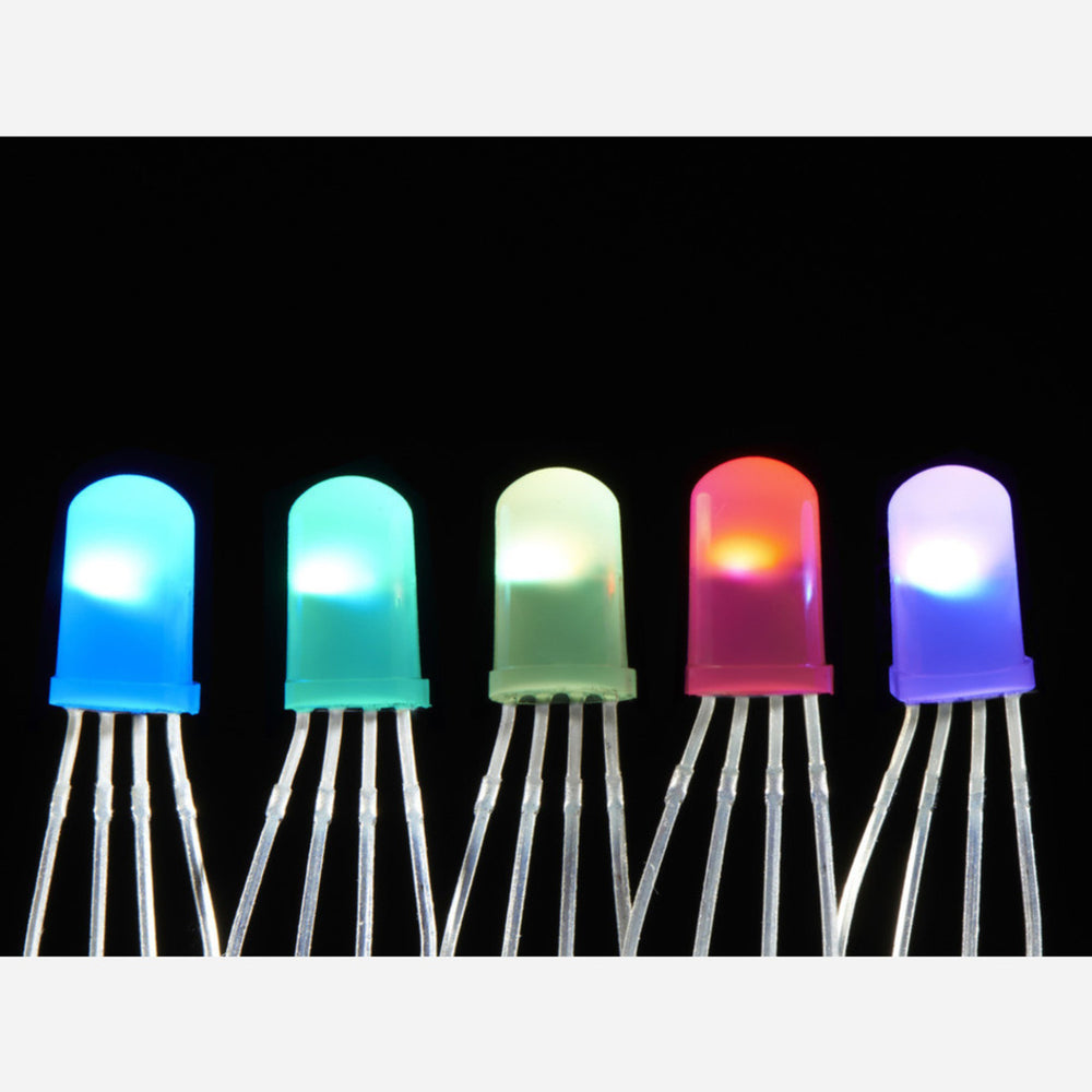NeoPixel Diffused 5mm Through-Hole LED - 5 Pack