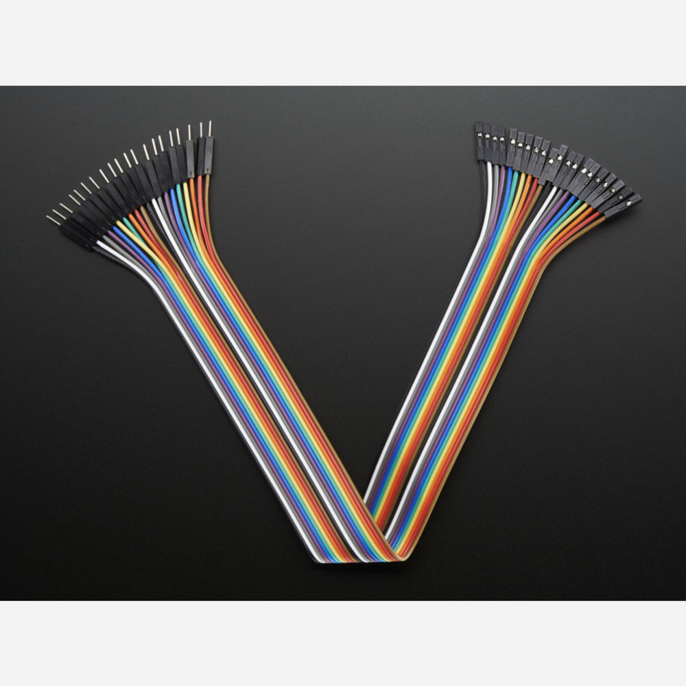 Premium Female/Male 'Extension' Jumper Wires - 20 x 12