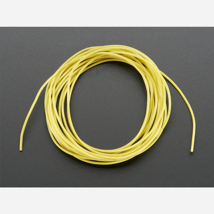 Silicone Cover Stranded-Core Wire - 2m 30AWG Yellow