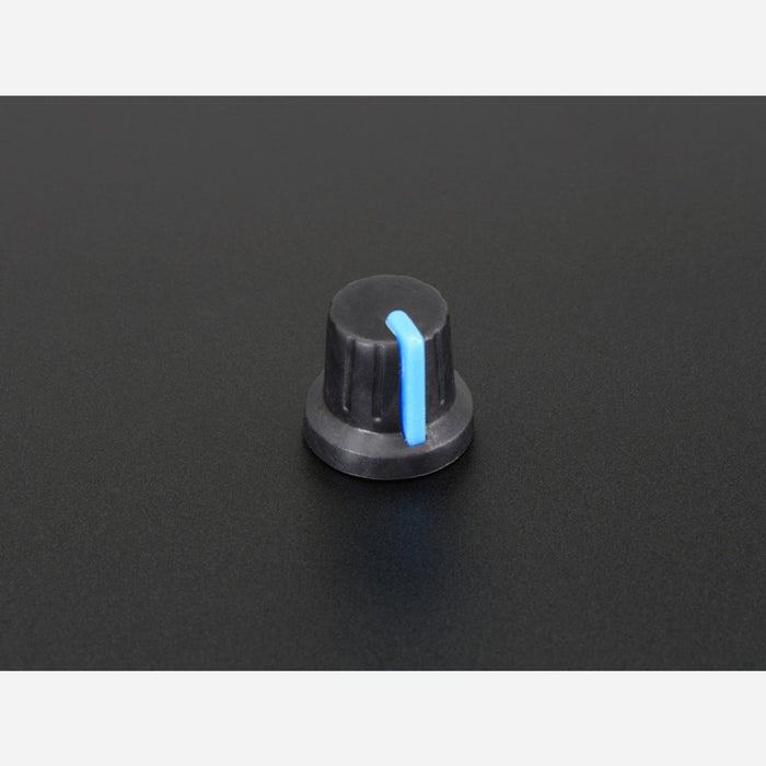 Potentiometer Knob - Soft Touch T18 - Blue