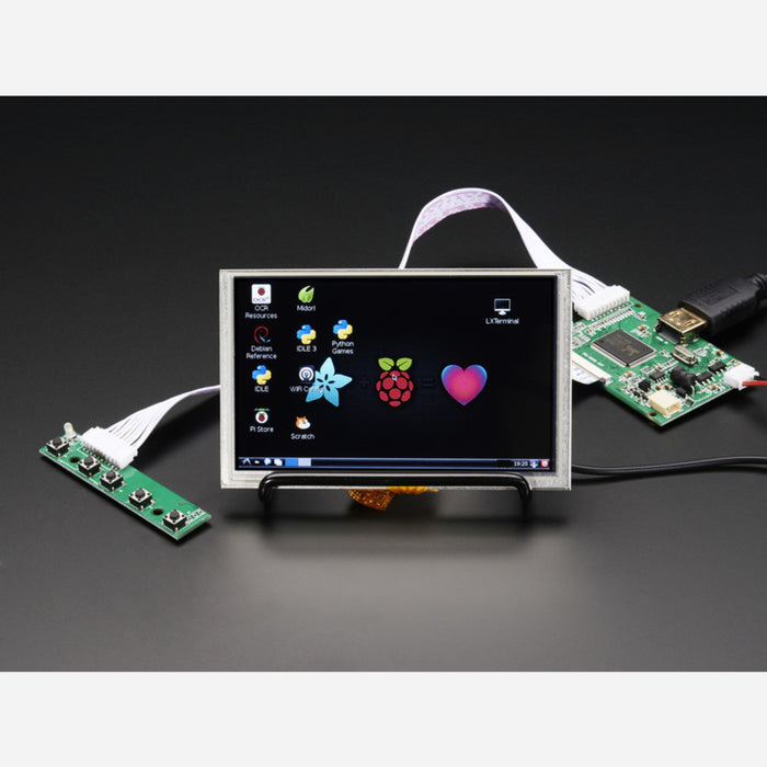 HDMI 4 Pi: 5 Display w/Touch and Mini Driver - 800x480 HDMI