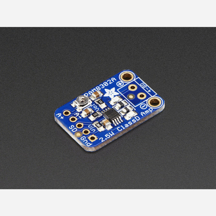 Adafruit Mono 2.5W Class D Audio Amplifier - PAM8302