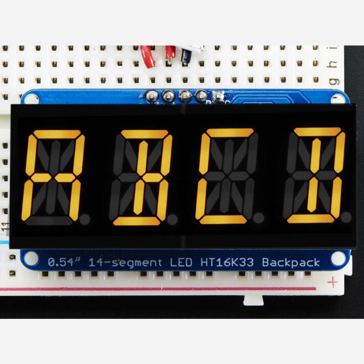 "Adafruit quad alphanumeric display-Yellow 0.54/"" digits W i2c backpack af2158"