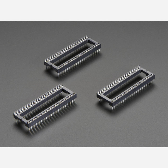IC Socket for 40-pin 0.6 Chips - Pack of 3
