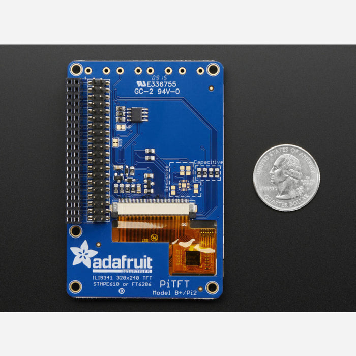 Adafruit PiTFT Plus 320x240 2 8 TFT + Capacitive Touchscreen