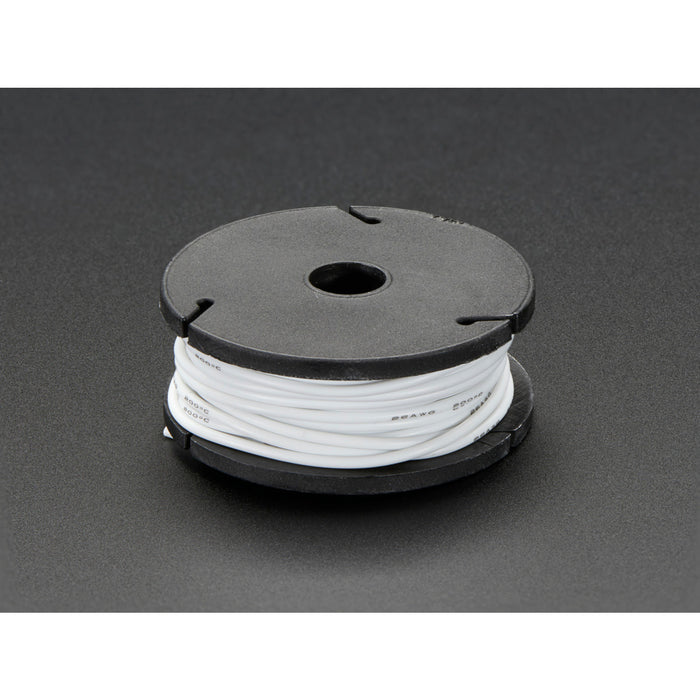 Silicone Cover Stranded-Core Wire - 25ft 26AWG - White