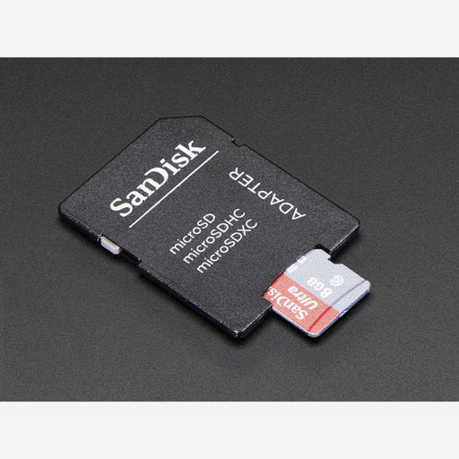 8GB Class 10 SD/MicroSD Memory Card - SD Adapter Included