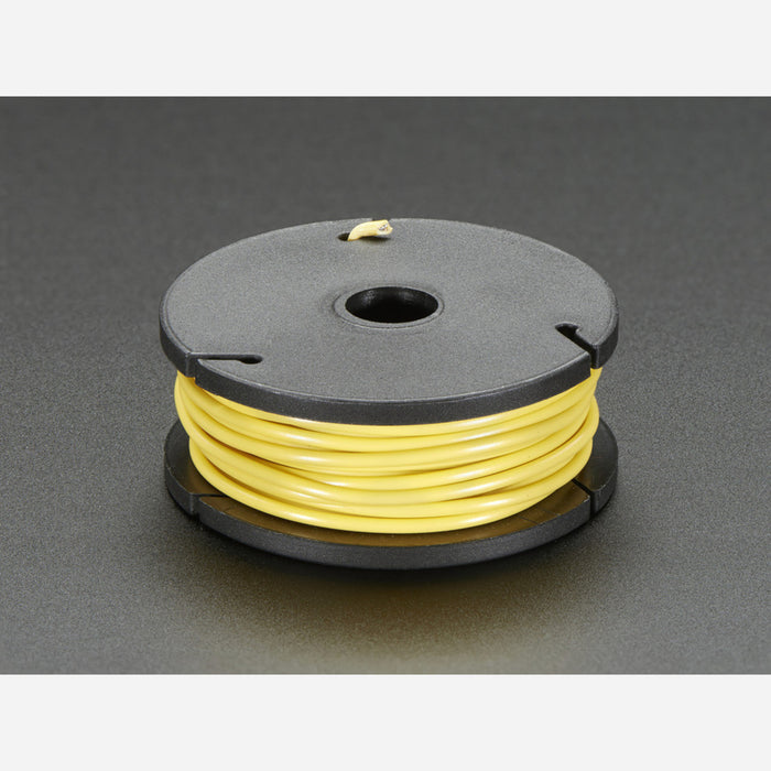 Stranded-Core Wire Spool - 25ft - 22AWG - Yellow