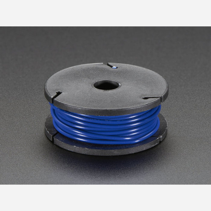 Solid-Core Wire Spool - 25ft - 22AWG - Blue