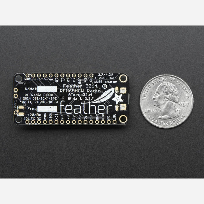 Adafruit Feather 32u4 with RFM69HCW Packet Radio - 433MHz