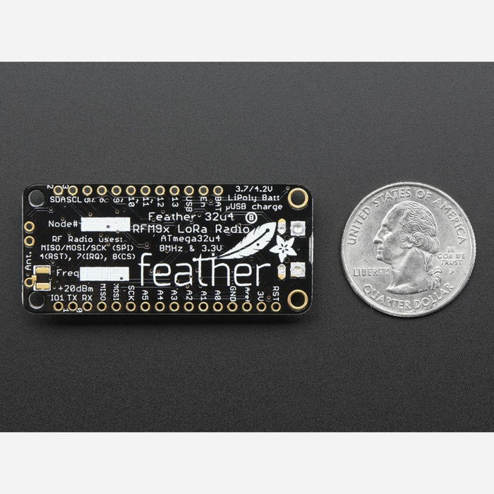 Adafruit Feather 32u4 RFM95 LoRa Radio - 868 or 915 MHz