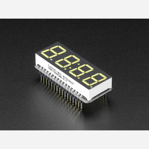 Adafruit 4-Digit 7-Segment LED Matrix Display FeatherWing - White