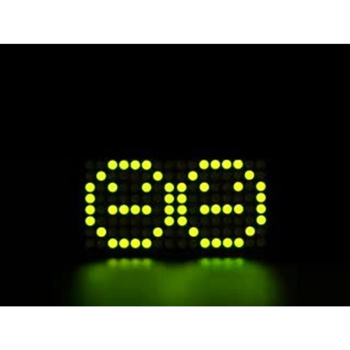 "Adafruit 0.8"" 8x16 LED Matrix FeatherWing Display Kit - Yellow-Green"