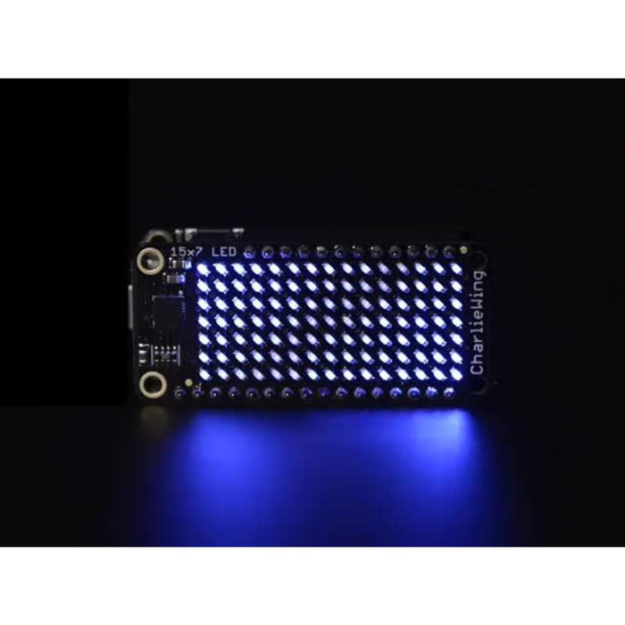 Adafruit 15x7 CharliePlex LED Matrix Display FeatherWing - Warm White