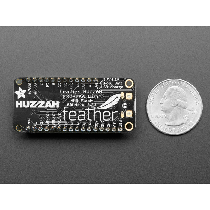 Assembled Feather HUZZAH w/ ESP8266 WiFi With Stacking Headers