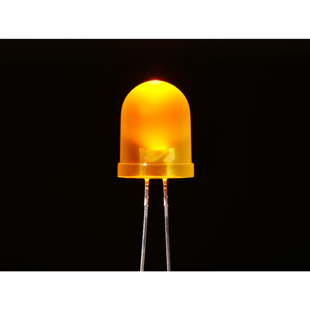 Diffused Yellow 10mm LED (25 pack)